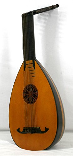 Musikalia luthier-crafted Vintage Renaissance oder ELIZABETHAN 14-string Laute Ahorn und Palisander mit Rosette geschnitzt und Griffbrett, um das Sound Board gebaut
