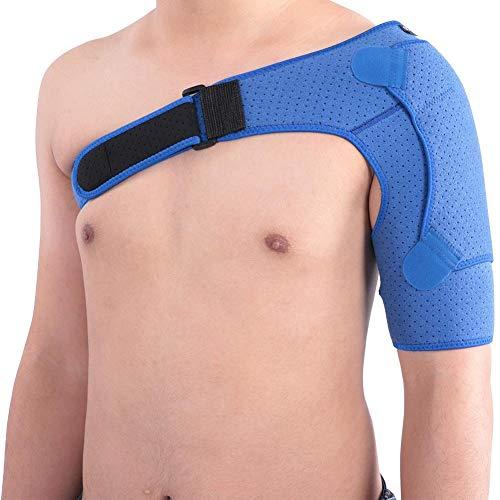 Vendaje de hombro ajustable, neopreno y recuperación, mejora la lucha contra la presión para los hombros, tamaño pequeño (31-38 pulgadas)