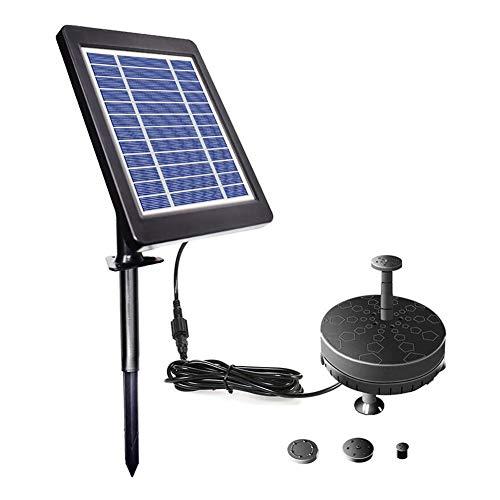 NZHK Fuente Solar De La Bomba, La Bomba 3.5W LED Solar De Agua con 1800Mah Batería De Reserva Flotante Kit De La Bomba De Agua De La Charca del Patio Trasero Jardín Decoración