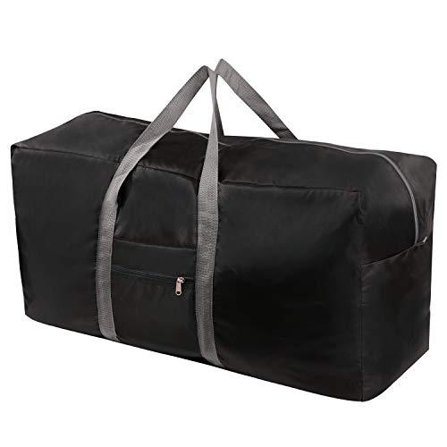 ADONINELP Travel Duffel Bag,Lightweight Durable Designed Gym Sports Bag Fashion Print Weekender Bag Large,Violet Red Galaxy Background Text