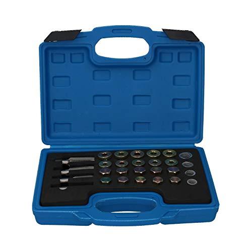 Bouchon de carter de vidange d'huile de boîte de vitesses différentiel kit de réparation de filetage endommagé 64pcs à547