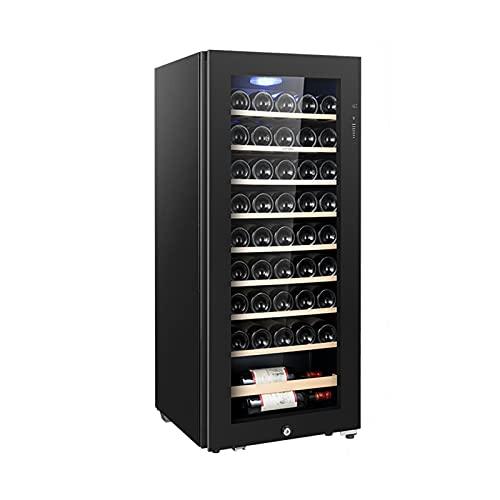 MIAOYO Independiente Compresor Libre De Heladas Vinoteca,Operación Silenciosa Vinoteca,Vinoteca,Refrigerador De Vino para Cocina Pequeña Apartamento RV,Negro,48x49x111cm