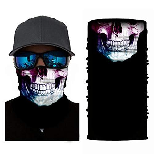 4Clean 3D waschbarer Schlauchschal mit Motiv I Gesichtsmaske mit UV-Schutz I Multifunktionstuch für Motorrad und Radfahren I Deine Mundschutzmaske mit Motiv(Halstuch Herren/Damen) (S36)