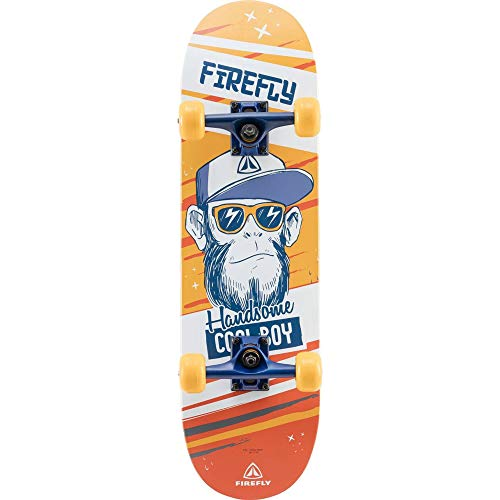 FIREFLY Unisex– Erwachsene SKB 310 Skateboard, ORANGE/Blue/White, One Size