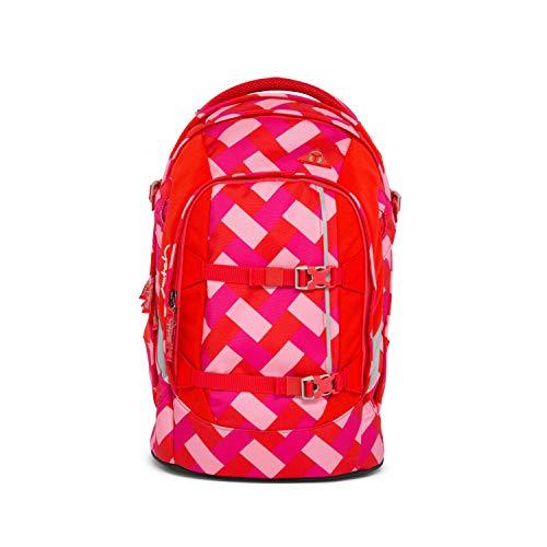 satch Pack Chaka Cherry, ergonomischer Schulrucksack, 30 Liter, Organisationstalent, Pink