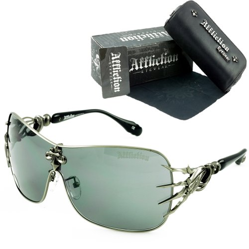 Big Sale Affliction Blade Sunglasses Gunmetal/Black Shades