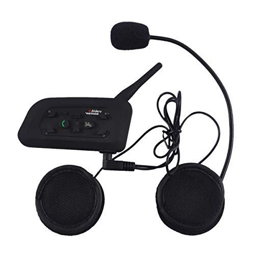 Motorcycle V6 Bluetooth Intercom Helmet Headset 1200M Full Duplex Real-time Motorcycle Wireless...