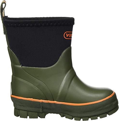 viking Unisex-Kinder Solan Neo Gummistiefel, Grün (Green), 27 EU