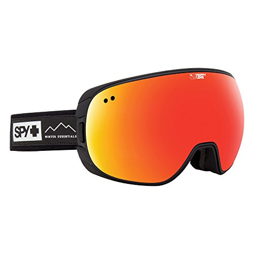 Spy Goggle Doom (with/Bonus Lens) Skibrille, Waxed Black/Happy Gray Green w/Red Spectra Happy Yellow w/Lucid Green, One Size