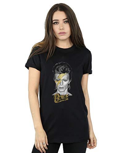 Ladies Bowie Aladdin Sane Boyfriend Fit T-shirt, 165gsm, Official Product, S to 3XL