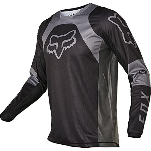 Fox Racing Herren 180 LUX Motocross Jersey Trikot, schwarz/schwarz, Large