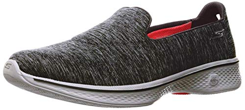 Skechers Womens Gowalk 4 - Achiever Grey/White Walking Shoe - 6
