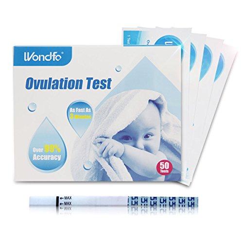 Wondfo Ovulations-Urin-Teststreifen, LH-Erkennungsstäbchen, 50 Stück
