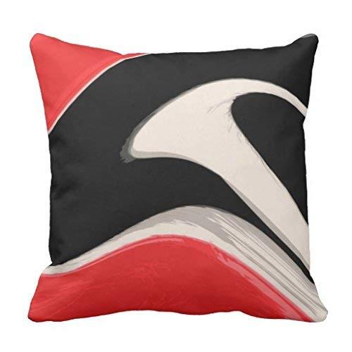 yting RWB Swipe Throw Pillow Cover pour Chaise Longue, Divan, extérieur, Chaise Longue, pub, Famille 18\