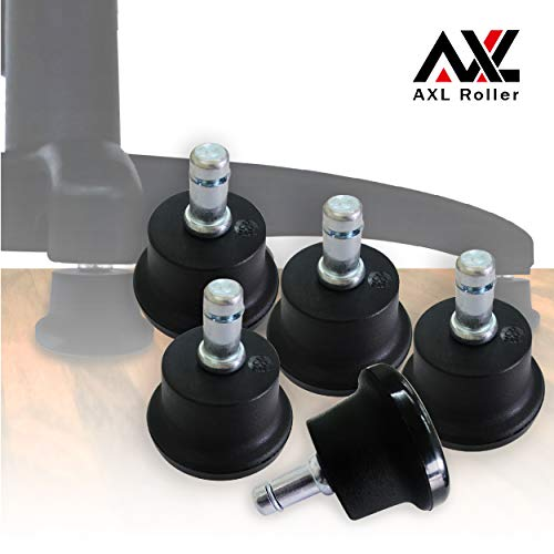 AXL Chair Glides to Replace Casters, Office Chairs Stationery Office Replacement Chair Without Wheels and High Bell Glides - Set of 5 Pack (Low)