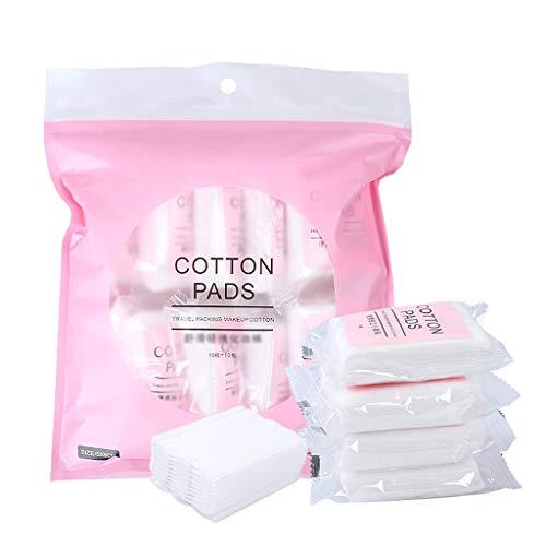 Démaquillants pour le visage 100pcs coton organique tampons réutilisable maquillage de voyage coton pad faciale mouchoir lingettes lingettes visage co