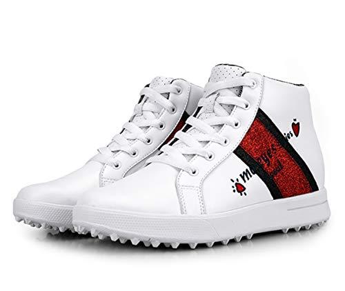 PGM High Heel Golfschuhe für Damen und Mädchen, wasserdichte Spikeless Glitter Golfschuhe für Damen