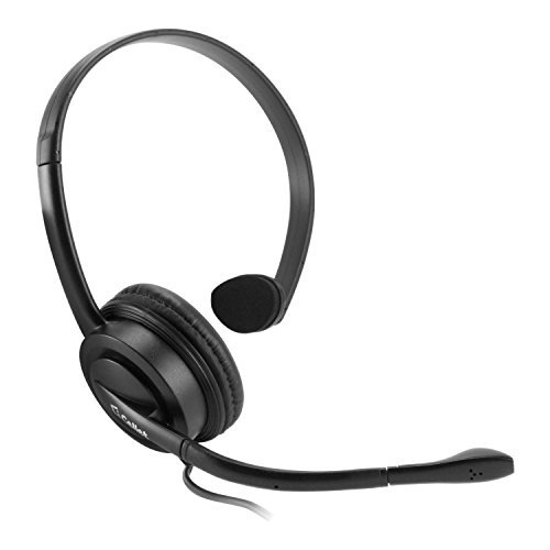 Cellet Universal Premium Mono 2.5mm Hands-Free Headset w/Boom Microphone for landline Phone, Cordless Phone, Office Phones, Business Phones, Call Centers. (Not for Smart Phones)