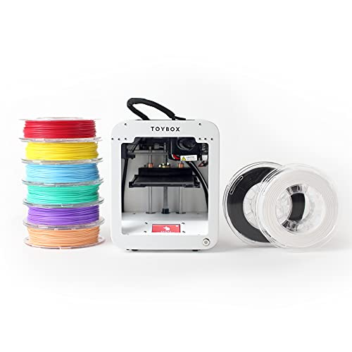 Toybox 3D Printer for Kids, No Software Needed (Includes: 3D Printer, 8 Preselected Printer Food Rolls, Free 500+ Toy Digital Catalog, Removable Bed), Deluxe Pack