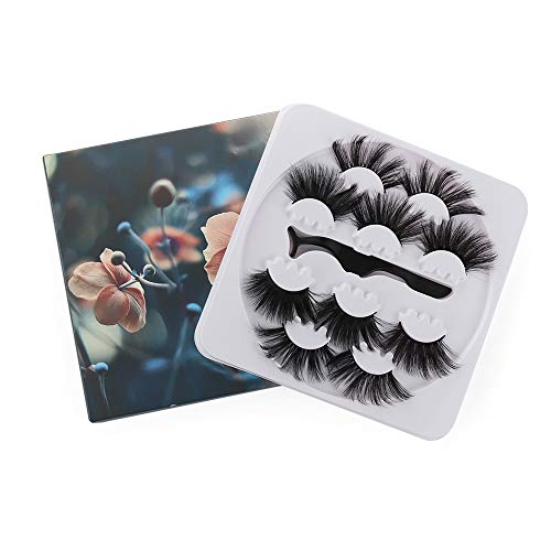 Handarbeit Erweiterung der Lash Tweezer Lange Dramatik Mink False Lashes 25mm False Augenbrauen 3D Augenklappen Erstellen von Werkzeugen