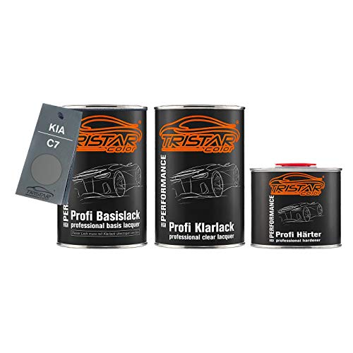 Preisvergleich Produktbild TRISTARcolor Autolack Set Dose spritzfertig für KIA C7 Bright Platinum Metallic Basislack + 2K Klarlack 2, 5L