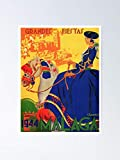 AZSTEEL 1944 Malaga Grandes Fiestas Spain Travel Poster