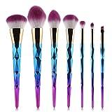 Pinceles De Maquillaje Set De Brochas De Maquillaje 7 Diamond Set De Brochas De Maquillaje Rose Gold