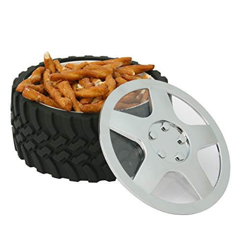 Product Image 5: WRENCHWARE – Knobby Tread Rubberized Tire Bowl used by Gearheads, NASCAR Fans, Mechanics, Motorheads, Car Engineers, and that Munchkin in your life. Pistachio Bowl, Popcorn Bowl, Pretzel Bowl.