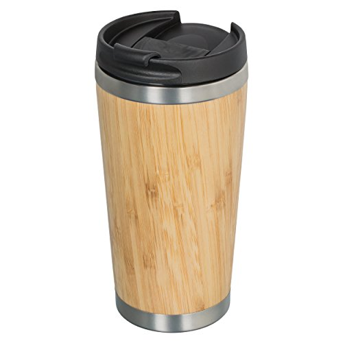 Isolierbecher Bambus, Thermobecher Bambus, Kaffee- oder Teebecher, doppelwandig, coffee to go