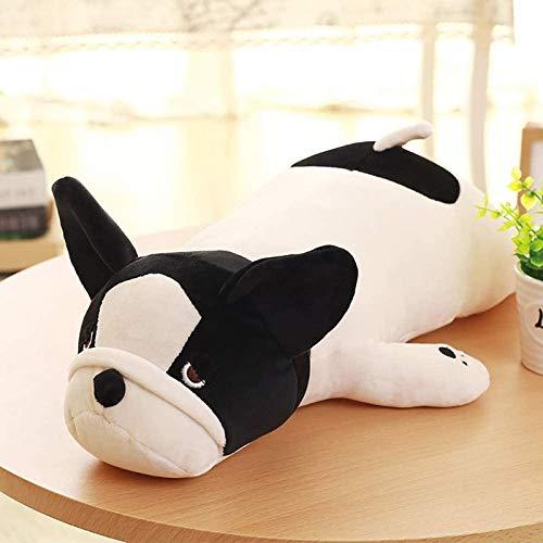 WZYJ French Softhaired Bulldog Soft Stuffed Plush Toy Dog Cute Lying Dog Doll Pillow Baby 50 cm Black