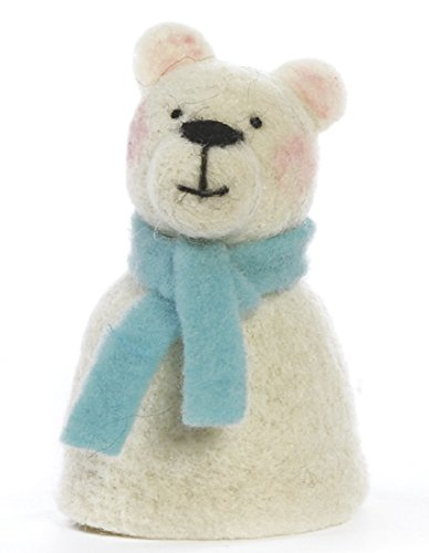 Baden dekorativer niedlicher Eierwärmer Eisbär mit Schal aus Filz Preis für 1