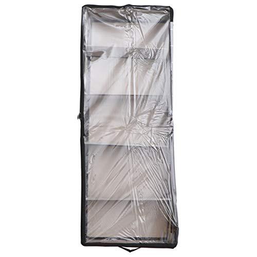 Cabilock Förvaringspåse under säng med fönster undersäng byrå vikbar klädförvaring för sko filt undersäng sängkläder kläder förvaring