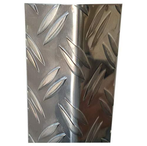 Aluminium Profil, 1500mm Aluwinkel 30x30 mm Schenkelinnenmaß aus Alu Riffelblech Duett 1,5/2,0 mm stark Aluminium L Profil,Winkelprofil,