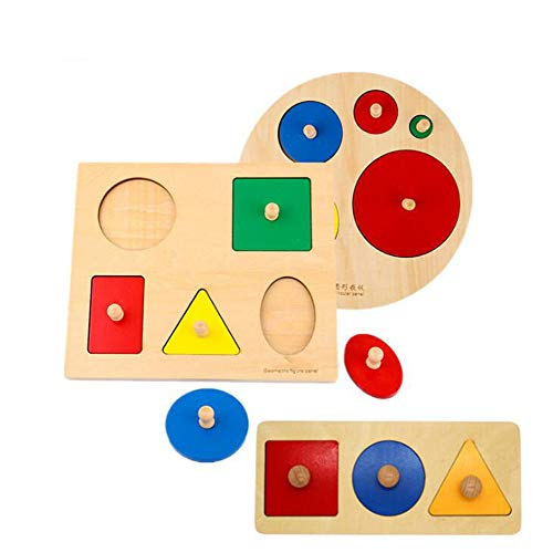YYSDH 2019 Kids Toy Baby Wood Cut-Out Fraction Circles 1-4 Learning Educational Preschool Training Children Math Teaching Aid,C