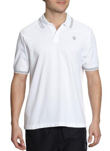 K-Swiss Camiseta de pádel para Hombre, tamaño M, Color Blanco