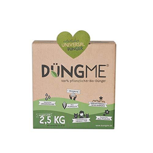 DÜNGME Bio Universaldünger mit Langzeitwirkung, 100{c51e45d60209233e2ac9e51d6754a7a893b2bc0628c1cf29ee6a75e3c48b860e} pflanzlich & Bio, Pflanzendünger, für kräftiges Pflanzenwachstum, unbedenklich für Kinder & Haustiere, Naturdünger für gesunde Böden, 2,5kg