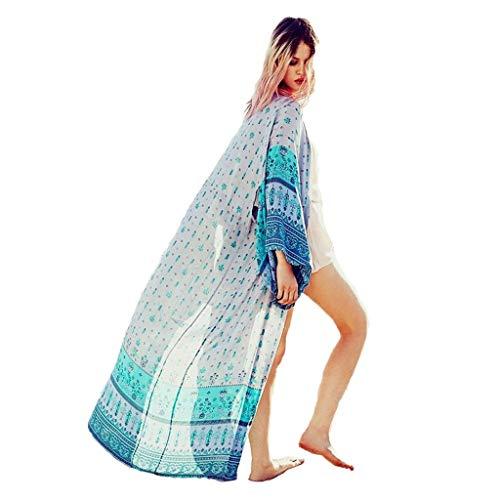 Lange badpak buitenzijde overhemd groot formaat zonnebrandcrème V-hals chiffon dun vest los vakantie kust strand Bikini jurk dames kleur 124 * 30cm MUMUJIN