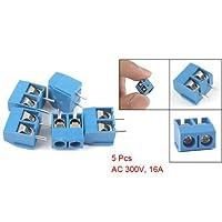 5個2P 5mmピッチPCBネジ端子ブロックコネクタ