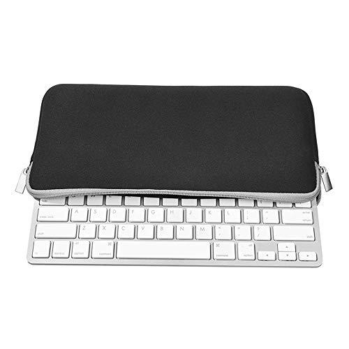 subtel® Tasche kompatibel mit Apple Magic Keyboard Neopren Schutzhülle Tasche Flip Cover Hülle Etui schwarz