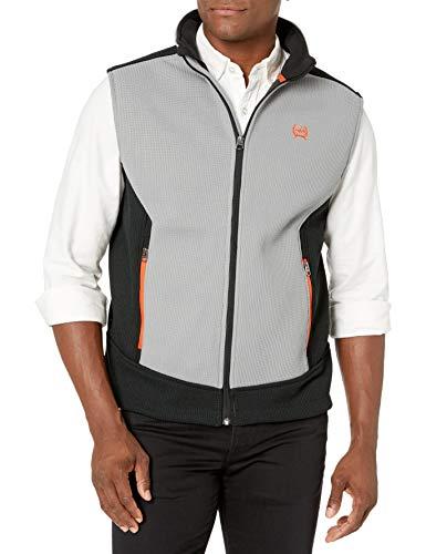 Cinch Men's Sweater Knit Vest, Gray/Black, M
