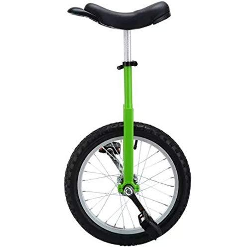 Lqdp Monociclo Monociclo Adulto de 20 Pulgadas para Mujer/Mal/Papá/Mamá (150Kg), Bicicleta de Una Rueda para Principiantes con Fuerte Estructura de Acero Al Manganeso, Fácil de Montar (Color : Green)
