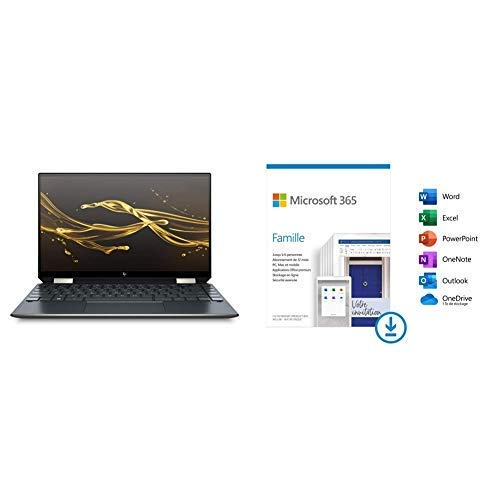 "HP Spectre x360 13-aw0007nf PC Ultraportable Convertible et Tactile 13,3"" FHD IPS Ble + Microsoft Office 365 Famille   Téléchargement"