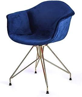 Sillas de la cocina del hogar de la sala de sillas Silla individual de estilo nórdico Silla de comedor Bar Casual Cafe Volver silla moderna simple maquillaje estilo europeo silla de lujo ( Color : E )
