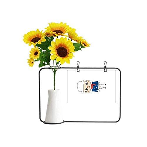Beauty Gift Künstliche Sonnenblumenvasen mit Australien-Ozeanien-Flagge, Canberra-Flagge, UU
