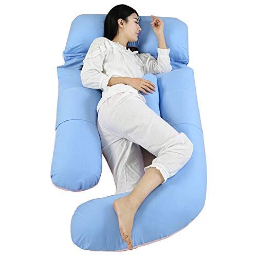 K&G Oreiller De Soutien en U pour Tout Le Corps Maternité Grossesse Allaitement Oreiller d'allaitement Comprend Une Housse Remplaçable Et Lavable - 80x110x180cm,Blue