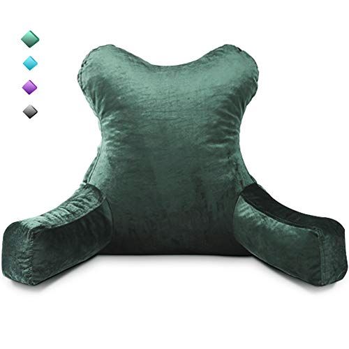 mittaGonG Slim Waist Backrest Reading Pillow with Arms Back Pillows for Sitting in Bed Removable Cover Suited for Ladies