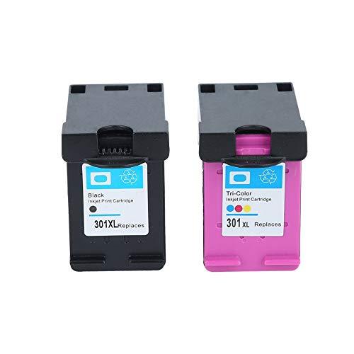 Brookfendi - Cartuccia sostitutiva non OEM per stampante HP 301XL Deskjet 1050 2050 2050s 3050 per stampante Envy 4500 4502 4504 5530 5532 5539 Misura unica 1 pezzo nero e 1 pezzo tricolore.