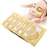 Gold Eye Mask, 5 Pack Hyaluronic Acid Vitamin E Collagen Firming Eye Gel Moisturizing Anti-Aging Anti-Wrinkle Puffy Dark Circle Eye Bag Mask(Five pieces)