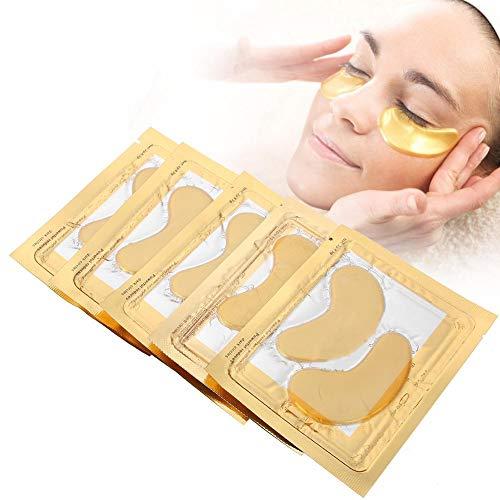 Masque pour les yeux doré, Paquet de 5 Gel pour les yeux raffermissant avec de la vitamine E et du collagène à l'acide hyaluronique Hydratant anti-âge