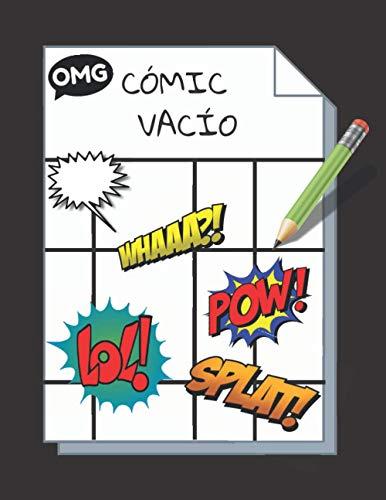 CÓMIC VACÍO: Cómic en Blanco | 100 originales plantillas de cómics en blanco para adultos, adolescentes y niños